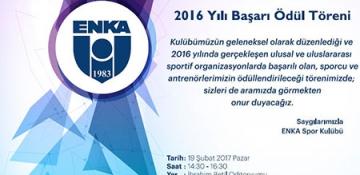 2016 YILI BAŞARI ÖDÜL TÖRENİ
