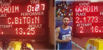 Cemre Bitgin ve Necati Er'den U23 Türkiye Rekorları