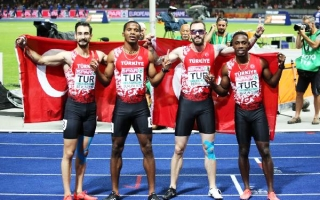 4x100m RELAY NATIONAL TEAM 2ND in EUROPE