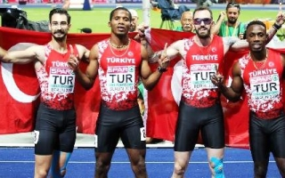 4x100m BAYRAK MİLLİ TAKIMIMIZ AVRUPA 2NCİSİ
